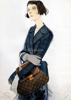LOUIS VUITTON fashion illustration by Nuno DaCosta