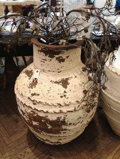 Farrow and Ball pots Outdoor Pots, Urn, Terracotta, Greek, Pottery, Vase, Rustic, Ceramics, Antiques