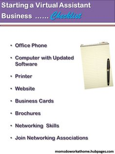 Checklist for anyone serious about starting a virtual assistant business. Here are the tools you will need to get started.