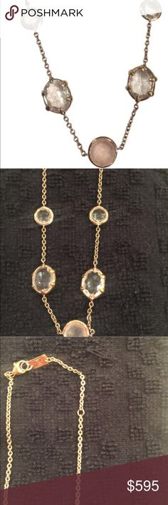 Ippolita Rock Candy Necklace Pink Gold with pastel (very light) stones. Adjusts to 16 inches or 18 inches. Ippolita Jewelry Necklaces