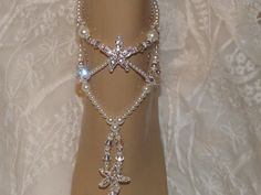 Elegant Pearl Starfish Wedding Anklet by SubtleExpressions on Etsy