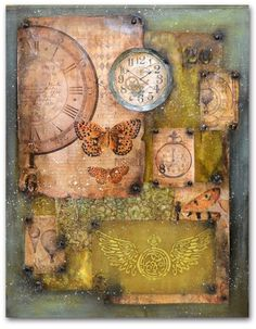 Join us and improve your artistic skills and passion to create. Mix Media, Mixed Media Canvas, Mixed Media Art, Art Journal Pages, Art Journaling, Handmade Journals, Assemblage Art, Art Journal Inspiration, Collage Art