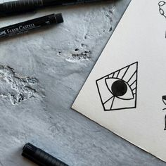 minimal third eye pyramid tattoo flash design by nico di pisarro