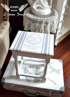 Mini stoleček ... Provence Style, Le Moulin, Magazine Rack, Country, Mini, Handmade, Furniture, Home Decor, Hand Made