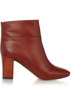 Chloé|Leather ankle boots|NET-A-PORTER.COM
