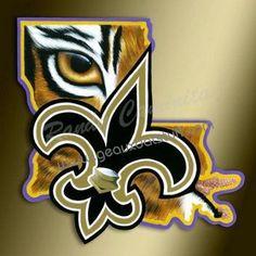 Geaux Dat Stuff - LSU & New Orleans Saints Artwork by Randy Caminita
