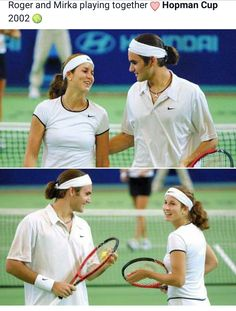 Mirka and Roger Federer double