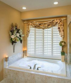 High Quality Curtain Ideas: Bathroom Window Curtains With Attached Valance