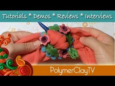 How to make a pretty scarf or hair pin from polymer clay - YouTube