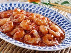 Me encantan estas gambas en salsa marinera, durante mi estancia en México preparaba la salsa con camarones secos (que aquí en Madrid no encuentro)... Canapes, Fish And Seafood, Chinese Food, My Recipes, Tapas, Macaroni And Cheese, Shrimp, Main Dishes, Salmon