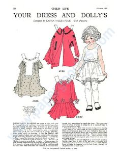 Your Dress and Dolly's, Book 2; 1920s Restored Paper Doll Collection