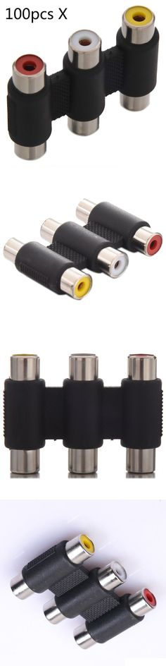 TV Video and Home Audio: 100Pcs X 3Rca Female To Female Coupler Av Video Audio 3 Rca Adapter Connector -> BUY IT NOW ONLY: $99.99 on eBay!