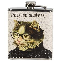 Paw Me Another Hip Flask ($9.98) ❤ liked on Polyvore featuring home, kitchen & dining and bar tools