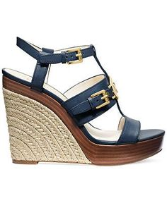 Roped wedges to add some nautical glam to your shoe collection, MICHAEL Michael Kors