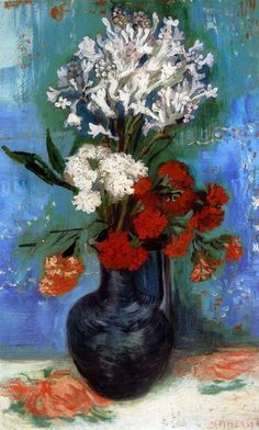 Wall decoration art Van Gogh Vase with Carnations and Other Flowers oil painting decorative pictures for friends No Frame Rembrandt, Vincent Van Gogh, Van Gogh Art, Art Van, Pierre Auguste Renoir, Edgar Degas, Art Floral, Claude Monet, Flores Van Gogh