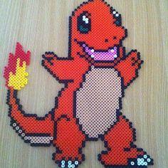 Charmander Pokemon hama beads by hamabeadmania