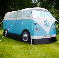One of our dreams came true: just got our awesome VW bus tent!!! Can't wait to go camping....