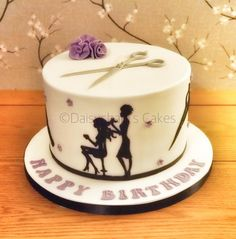 Hairdressers Cake - cake by Daisychain's Cakes
