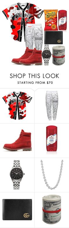 """""""Dre"""" by badtothebones ❤ liked on Polyvore featuring Timberland, Citizen, John Hardy, Gucci, men's fashion and menswear"""