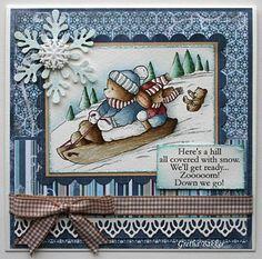 Het kaartenhoekje van Gretha: Let`s go sledging Christmas Cards 2018, Xmas Cards, Holiday Cards, 3d Cards, Cool Cards, Scrapbooking, Scrapbook Cards, Handmade Christmas, Christmas Crafts