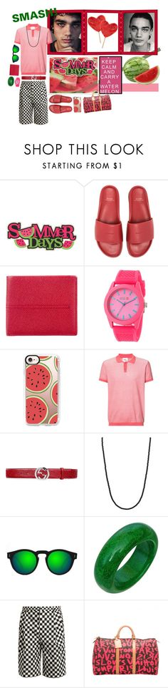 """SMASH! watermelon!"" by whimsical-angst ❤ liked on Polyvore featuring Paul Frank, BUSCEMI, Tod's, Crayo, Casetify, ORLEY, Gucci, King Baby Studio, Illesteva and Givenchy"