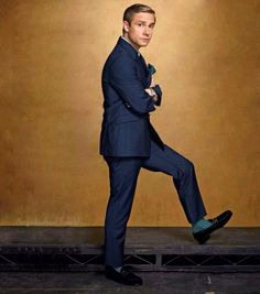 Martin Freeman This is really an amazing picture of him. He's not cute or sassy, he's just stylish.