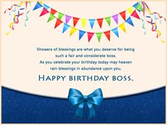 It is your Boss birthday today. On this page we give you the best Boss happy birthday cards images for your boss that will make his/her eyes well up with tears of joy. Your boss is the reason why you have a job and the one who gave you the opportunity to join their company. Hence, it's important to...
