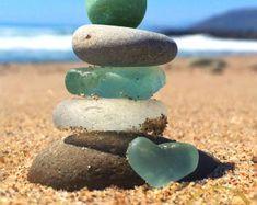Sunny SoCal Seaglass Stack Print Beach Photo Art Coastal   Etsy Ocean Photos, Beach Photos, Ocean Art, Ocean Beach, Metallic Paper, Sea Glass Art, Ocean Photography, California Beach, Beach Print