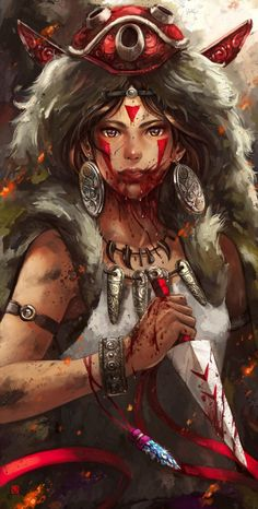 Fille de Loup,Princesse de la forêt,reine de la nature♥ (Princesse Mononoke)