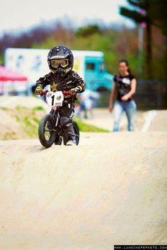 You should start as young as you can. http://bike2power.com