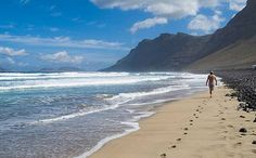 Famara is a good choice for surfers and kite-surfers