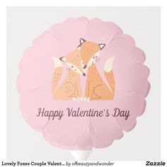 Lovely Foxes Couple Valentine | Balloon Valentines Balloons, Happy Valentines Day, Helium Gas, Custom Balloons, Personalized Products, Foxes, Centerpieces, Elegant, Couples