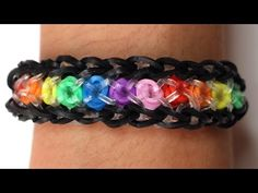 Rainbow Loom Nederlands - Confetti Criss Cross || Loom bands, rainbow loom, tutorial, how to - YouTube