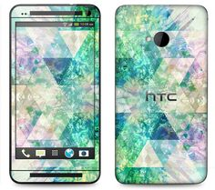 HTC One M7 M8 Case Decal Skin Cover  Geometric by skunkwraps