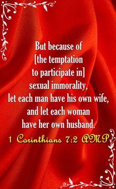 1 Corinthians 7:2 Marriage Bible Verses, Texts, Husband, Let It Be, Bible Verses About Marriage, Captions, Text Messages