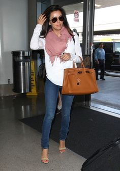 Arriving for a flight at LAX airport April 5, 2012