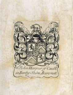 Bookplate of Sir John Harpur, 4th Bt (1680-1741). ©National Trust Images/John Hammond