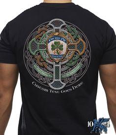 Celtic Cross Knot Irish Shield Warrior Sweatshirt Distressed