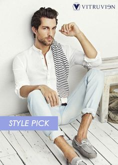 White Shirt with chinese collar.. perfect for any weather