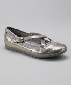 Take a look at this Silver & Gold Rhinnie Flat - Women by Sheri Poe Footwear on #zulily today!