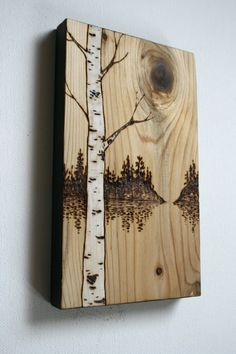 Solitude Wood Burning Art by TwigsandBlossoms on Etsy