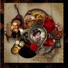 Le Scrap de Perline: Templates pack 1 de ScrapTalou. Kit la mécanique du coeur de KittyScrap Photo Alena Balabanova