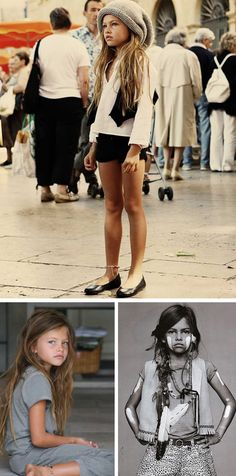 Her name  is Thylane Lena-Rose Blondeau,  a 10-year old French model who has been gracing the hottest  fashion runways and is one of the latest models of Vogue. At 10, her images have been causing a stir all over the world, creating both positive and negative comments from bloggers, news anchors and the like. There are some who say that her poses are very subjective and inappropriate for girls her age, while others rebut by saying that it really depends on how you look at it and so long