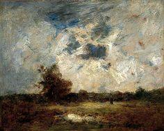 Théodore Rousseau, Landscape, c.1842
