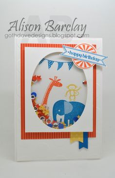 Gothdove Designs - Alison Barclay Stampin' Up! ® Australia : Stampin' Up! Australia - Color Coach Card #103 - Stampin' Up Zoo Babies