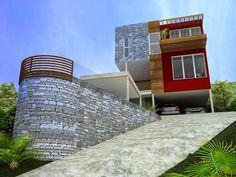 Fachadas de Casas em Terrenos em Aclive e Estreitos!