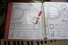 Handmade alphabet tracing