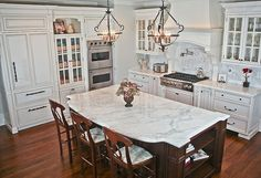 white-kitchen-with-cherry-island Now this has got to be one of my favorites!