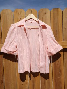 Vintage Peach Blouse  L 468 by MineAlways on Etsy
