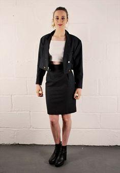 Vintage Grey Skirt Suit